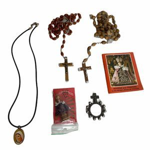 Catholic Rosary and Various Religious Items